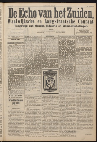 Echo van het Zuiden 1925-07-25