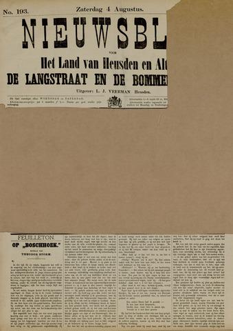 Nieuwsblad het land van Heusden en Altena de Langstraat en de Bommelerwaard 1883-08-04