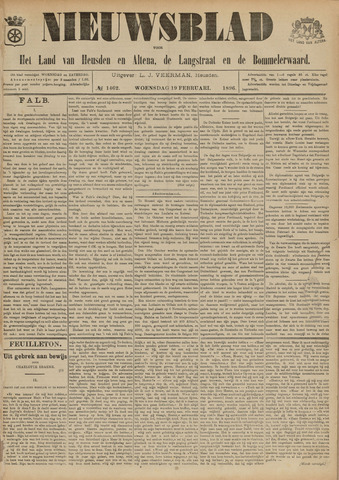 Nieuwsblad het land van Heusden en Altena de Langstraat en de Bommelerwaard 1896-02-19