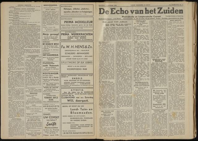 Echo van het Zuiden 1948-01-13