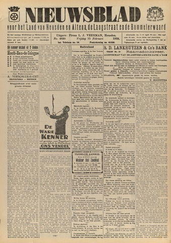 Nieuwsblad het land van Heusden en Altena de Langstraat en de Bommelerwaard 1929-02-15