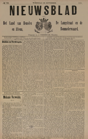 Nieuwsblad het land van Heusden en Altena de Langstraat en de Bommelerwaard 1888-09-26