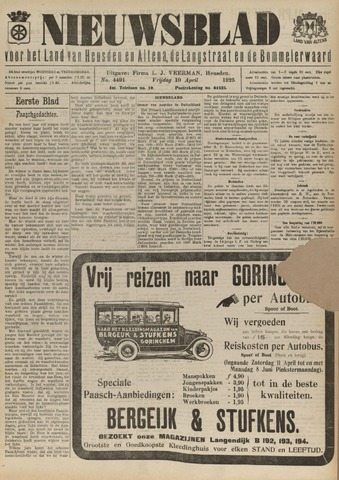 Nieuwsblad het land van Heusden en Altena de Langstraat en de Bommelerwaard 1925-04-10