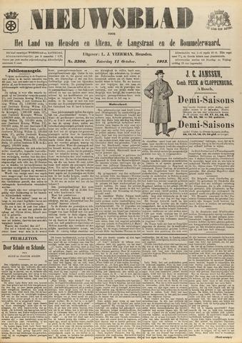 Nieuwsblad het land van Heusden en Altena de Langstraat en de Bommelerwaard 1913-10-11