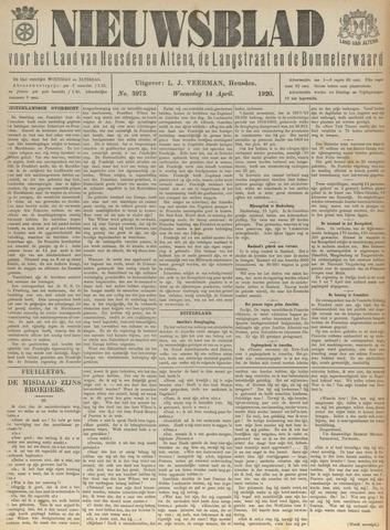 Nieuwsblad het land van Heusden en Altena de Langstraat en de Bommelerwaard 1920-04-14