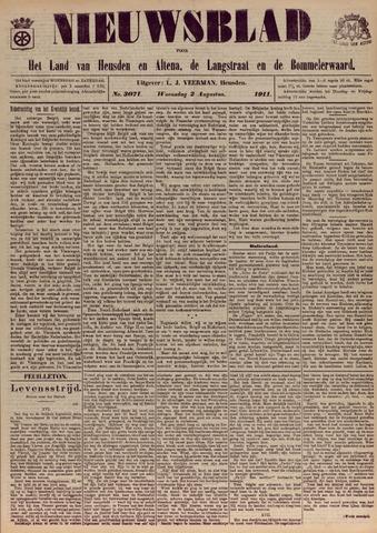 Nieuwsblad het land van Heusden en Altena de Langstraat en de Bommelerwaard 1911-08-02