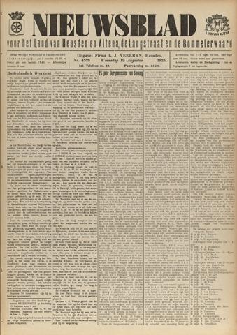 Nieuwsblad het land van Heusden en Altena de Langstraat en de Bommelerwaard 1925-08-19