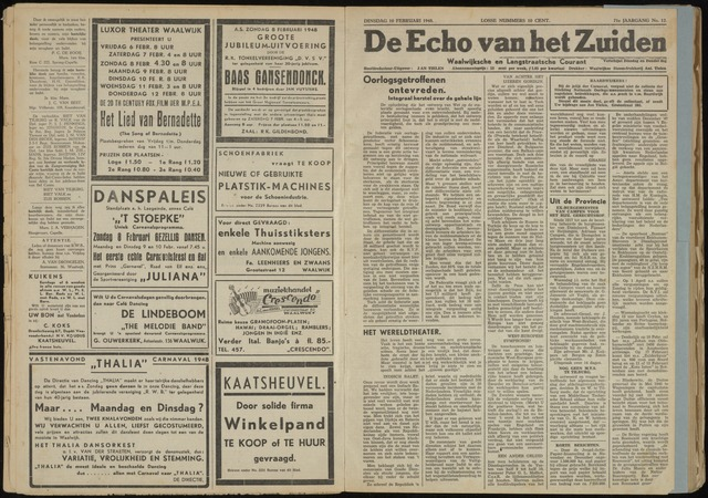 Echo van het Zuiden 1948-02-10