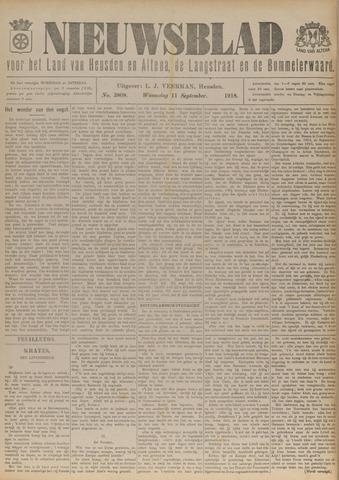 Nieuwsblad het land van Heusden en Altena de Langstraat en de Bommelerwaard 1918-09-11