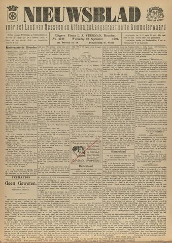 Nieuwsblad het land van Heusden en Altena de Langstraat en de Bommelerwaard 1927-09-28