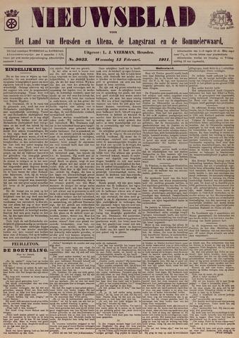 Nieuwsblad het land van Heusden en Altena de Langstraat en de Bommelerwaard 1911-02-15