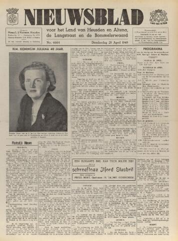 Nieuwsblad het land van Heusden en Altena de Langstraat en de Bommelerwaard 1949-04-28