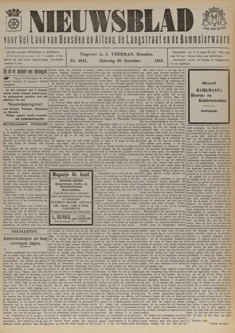 Nieuwsblad het land van Heusden en Altena de Langstraat en de Bommelerwaard 1919-12-20