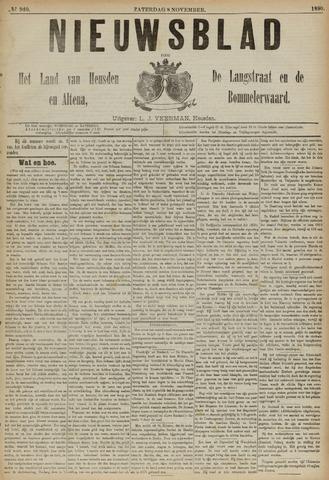 Nieuwsblad het land van Heusden en Altena de Langstraat en de Bommelerwaard 1890-11-08