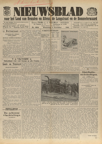 Nieuwsblad het land van Heusden en Altena de Langstraat en de Bommelerwaard 1941-11-05