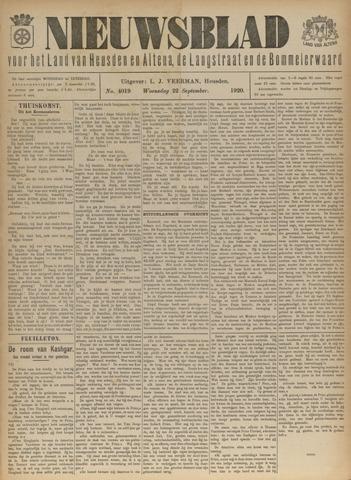 Nieuwsblad het land van Heusden en Altena de Langstraat en de Bommelerwaard 1920-09-22