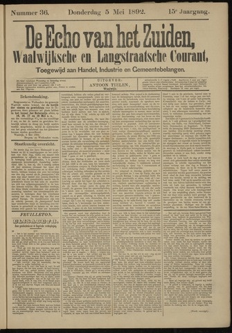 Echo van het Zuiden 1892-05-05