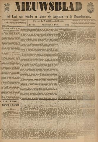 Nieuwsblad het land van Heusden en Altena de Langstraat en de Bommelerwaard 1894-11-07