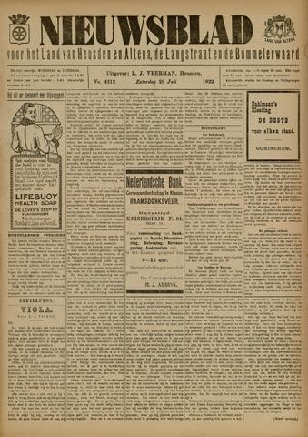 Nieuwsblad het land van Heusden en Altena de Langstraat en de Bommelerwaard 1922-07-29