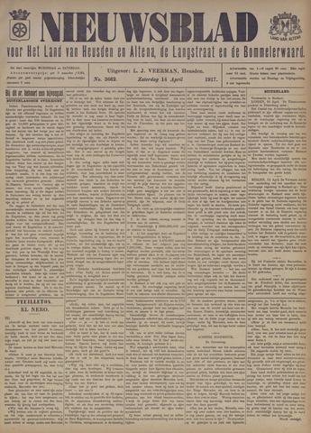 Nieuwsblad het land van Heusden en Altena de Langstraat en de Bommelerwaard 1917-04-14