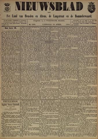 Nieuwsblad het land van Heusden en Altena de Langstraat en de Bommelerwaard 1894-04-18
