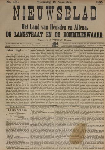 Nieuwsblad het land van Heusden en Altena de Langstraat en de Bommelerwaard 1885-11-18