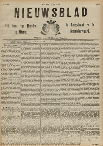 Nieuwsblad het land van Heusden en Altena de Langstraat en de Bommelerwaard 1892-06-22