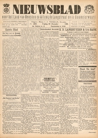 Nieuwsblad het land van Heusden en Altena de Langstraat en de Bommelerwaard 1925-11-20