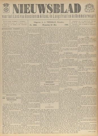 Nieuwsblad het land van Heusden en Altena de Langstraat en de Bommelerwaard 1920-05-12