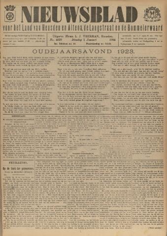 Nieuwsblad het land van Heusden en Altena de Langstraat en de Bommelerwaard 1924-01-01