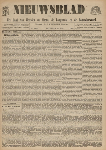 Nieuwsblad het land van Heusden en Altena de Langstraat en de Bommelerwaard 1902-10-11