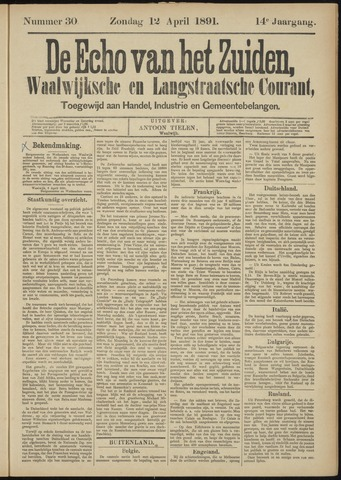 Echo van het Zuiden 1891-04-12