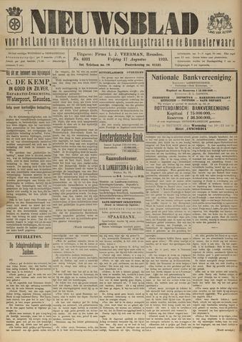 Nieuwsblad het land van Heusden en Altena de Langstraat en de Bommelerwaard 1923-08-17