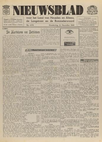 Nieuwsblad het land van Heusden en Altena de Langstraat en de Bommelerwaard 1949-12-22