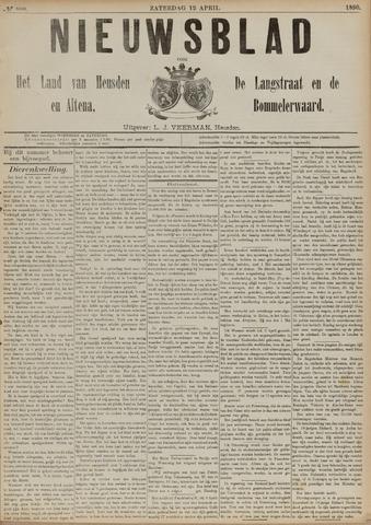 Nieuwsblad het land van Heusden en Altena de Langstraat en de Bommelerwaard 1890-04-12