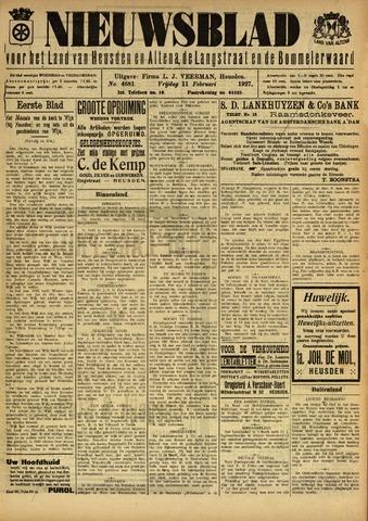 Nieuwsblad het land van Heusden en Altena de Langstraat en de Bommelerwaard 1927-02-11