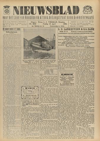 Nieuwsblad het land van Heusden en Altena de Langstraat en de Bommelerwaard 1928-04-13