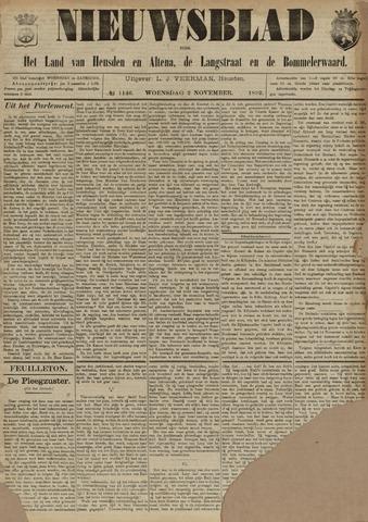 Nieuwsblad het land van Heusden en Altena de Langstraat en de Bommelerwaard 1892-11-02