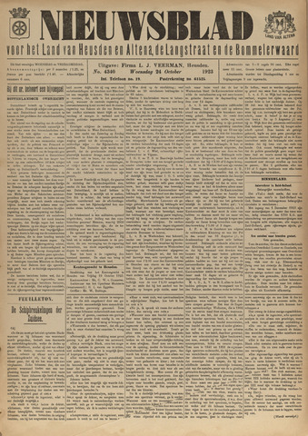 Nieuwsblad het land van Heusden en Altena de Langstraat en de Bommelerwaard 1923-10-24