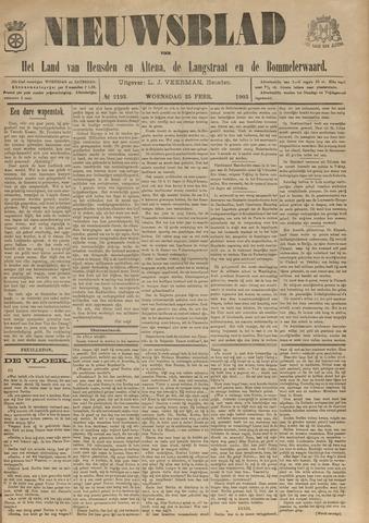 Nieuwsblad het land van Heusden en Altena de Langstraat en de Bommelerwaard 1903-02-25