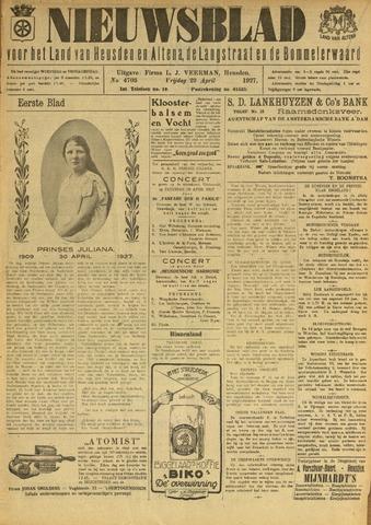 Nieuwsblad het land van Heusden en Altena de Langstraat en de Bommelerwaard 1927-04-29