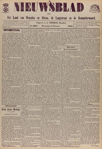 Nieuwsblad het land van Heusden en Altena de Langstraat en de Bommelerwaard 1910-02-02