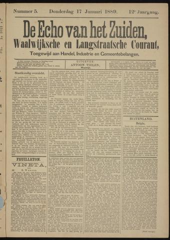 Echo van het Zuiden 1889-01-17