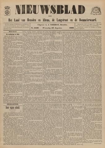 Nieuwsblad het land van Heusden en Altena de Langstraat en de Bommelerwaard 1906-08-22