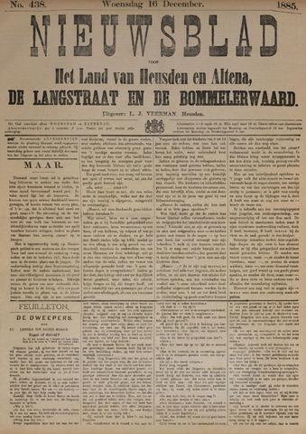 Nieuwsblad het land van Heusden en Altena de Langstraat en de Bommelerwaard 1885-12-16