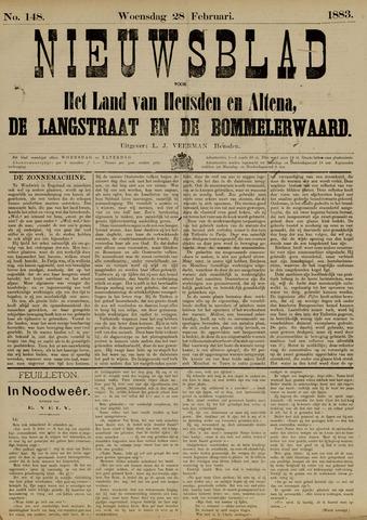 Nieuwsblad het land van Heusden en Altena de Langstraat en de Bommelerwaard 1883-02-28