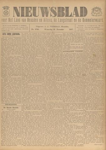 Nieuwsblad het land van Heusden en Altena de Langstraat en de Bommelerwaard 1917-11-21
