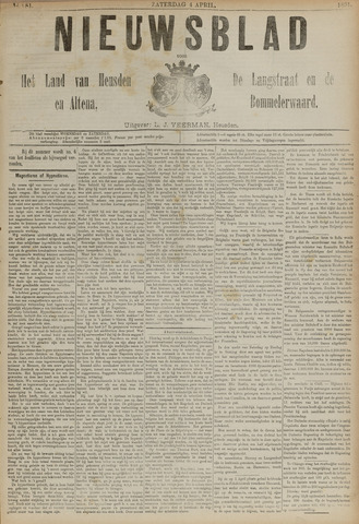 Nieuwsblad het land van Heusden en Altena de Langstraat en de Bommelerwaard 1891-04-04