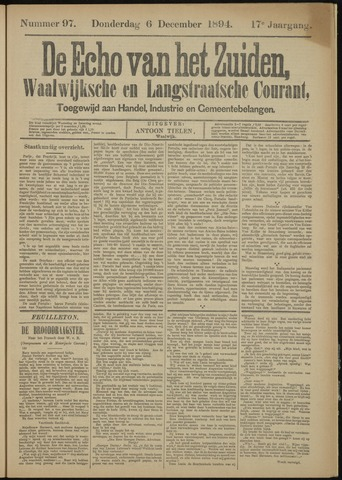 Echo van het Zuiden 1894-12-06