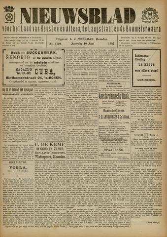 Nieuwsblad het land van Heusden en Altena de Langstraat en de Bommelerwaard 1922-06-10